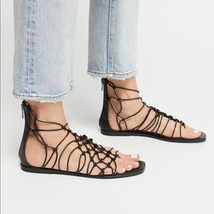 Free People Forget Me Knot Leather Sandal NIB!
